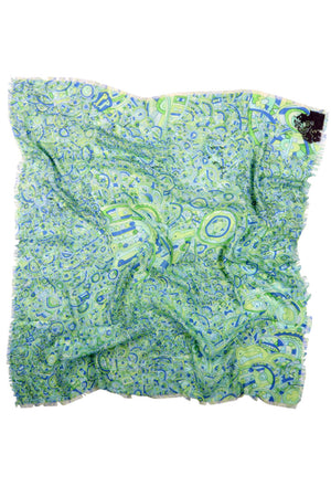 Silver Lining Green Repeat Scarf