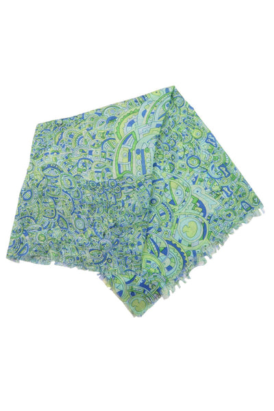 Green Repeat Scarf