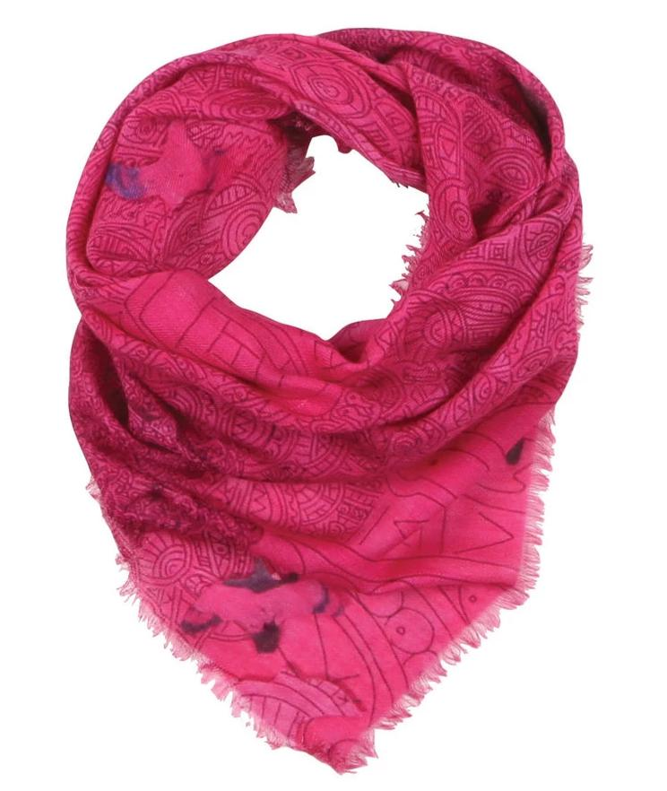 Fuchsia Flying Scarf