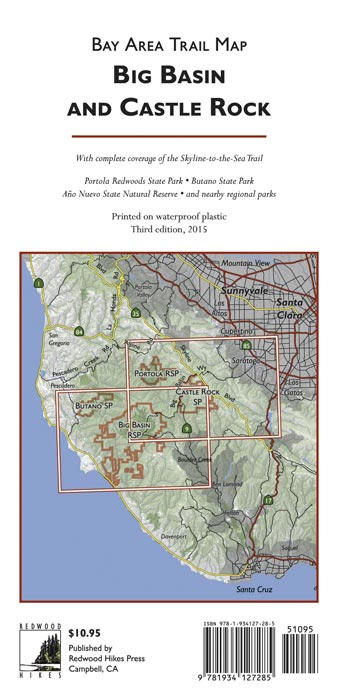 Big Basin and Castle Rock Map