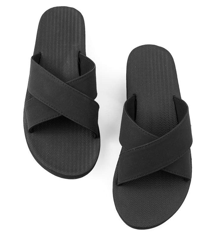 Cross Black Sandals Indosole - Black
