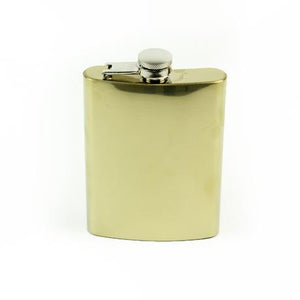 Polished Brass Large Flask