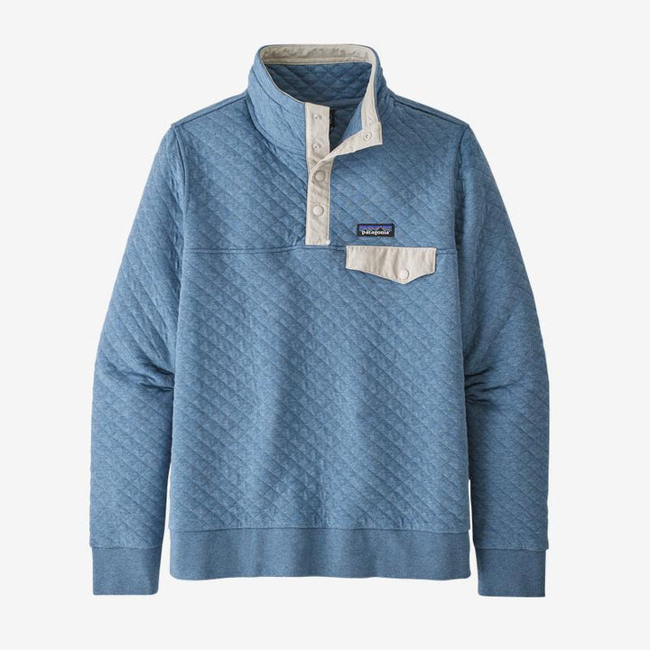 Organic Cotton Quilt Snap T - Pigeon Blue
