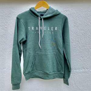 Traveler Surf Club Pullover Hoodie - Heather Forrest