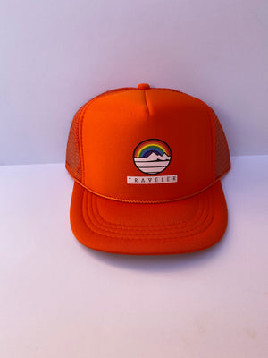 Kids Rainbow Traveler Trucker Hat
