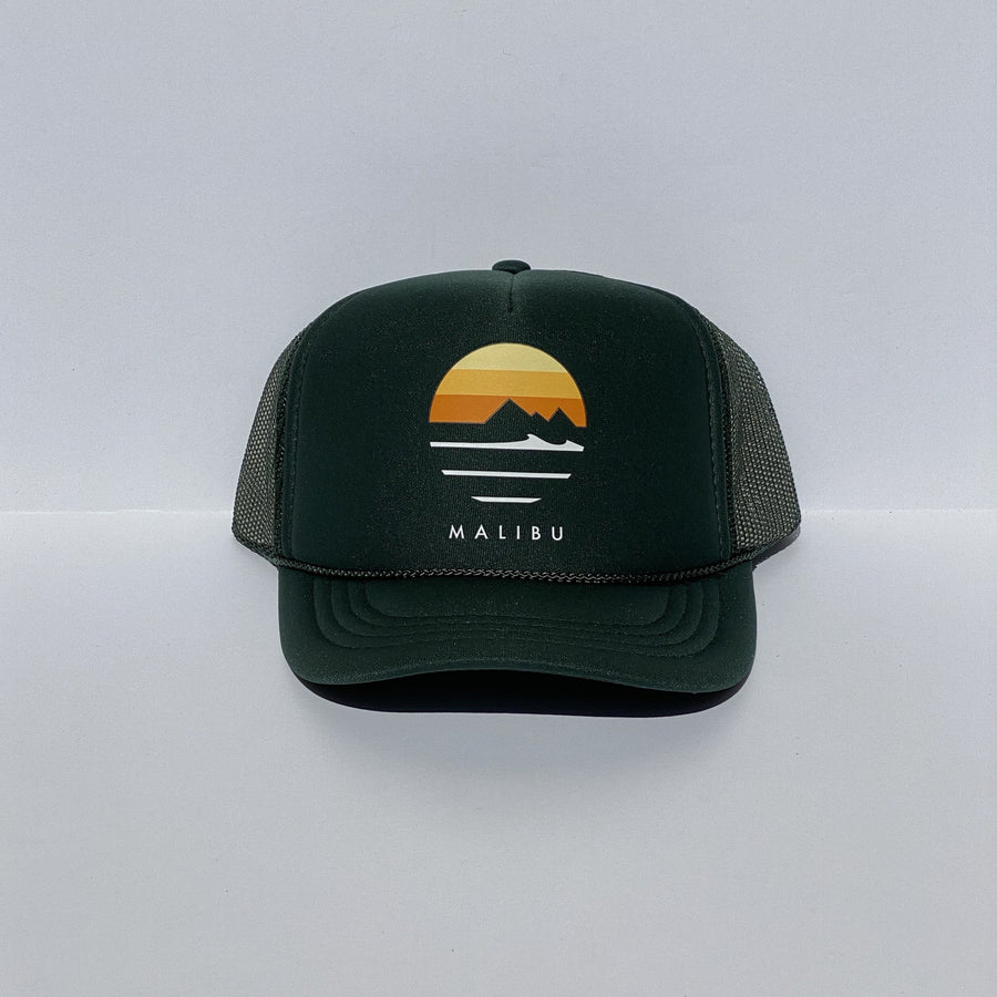 Kids Traveler Malibu Foam Trucker Hats - Sunset