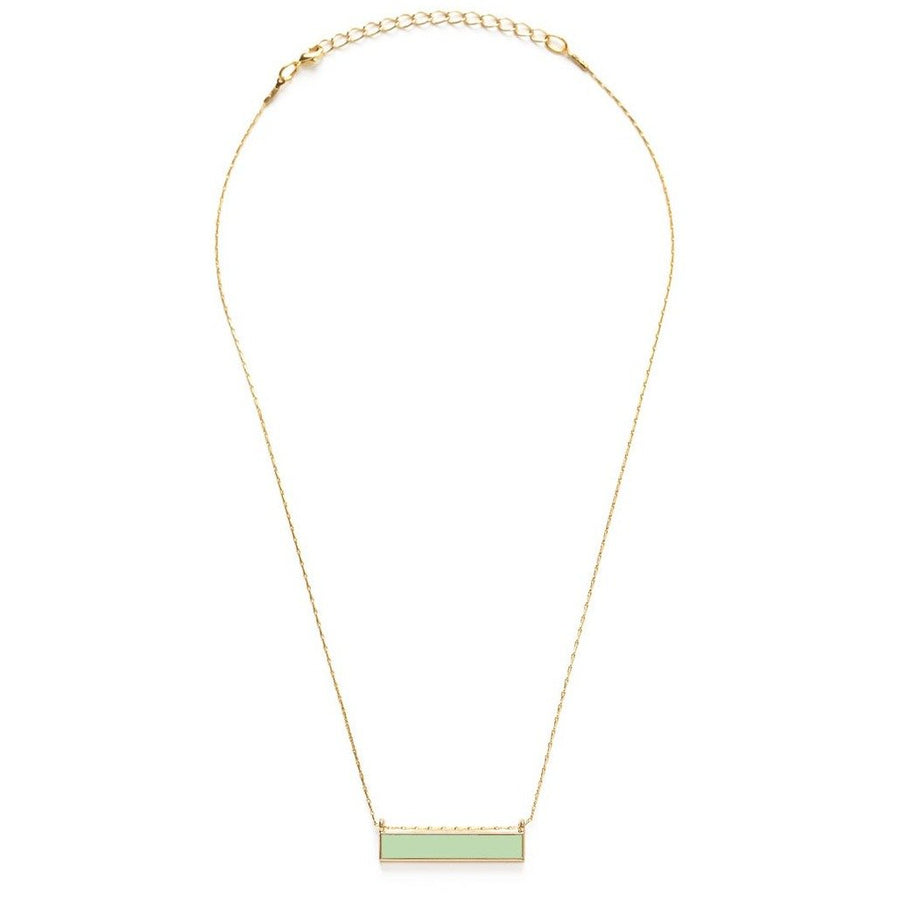 Enamel Bar Necklace