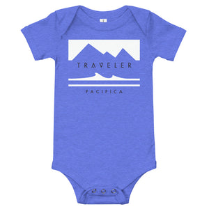 Traveler Pacifica Rectangle Logo Baby Onesie