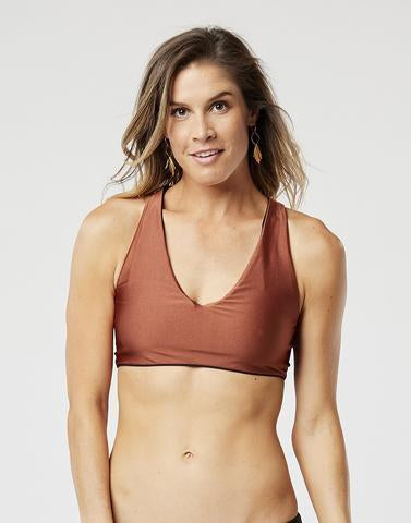 La Jolla Reversible Top - Rust/Black