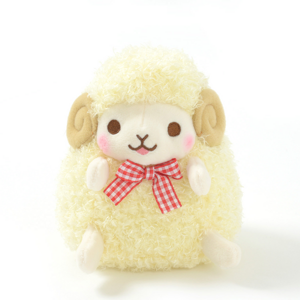 Amuse - Standard Wooly Lovely Face - Fuwan (smiling) Sheep plush toy  - Yoisho! House