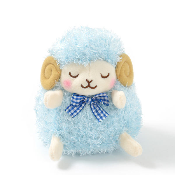 Amuse - Standard Wooly Lovely Face - Woolrich (eyes closed) Sheep plush toy  - Yoisho! House