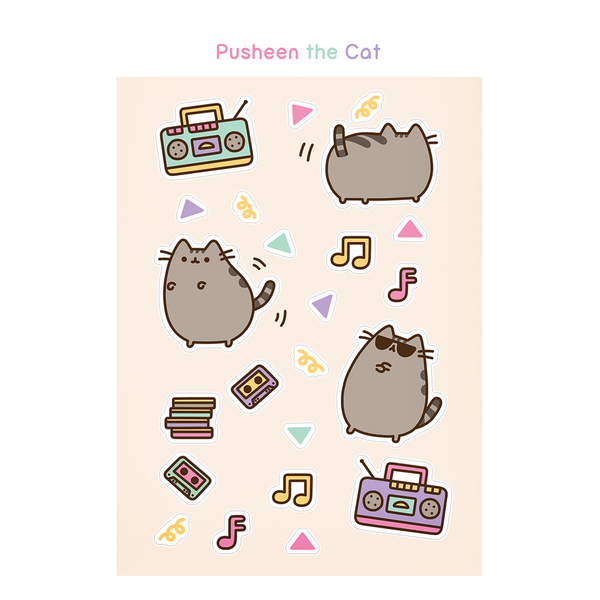 Dance Party Pusheen sticker sheet