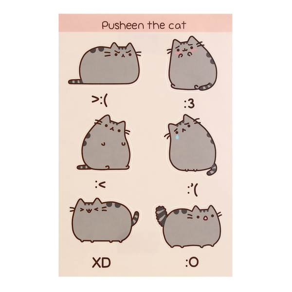 Hey Chickadee - Pusheen Emoticon sticker sheet  - Yoisho! House