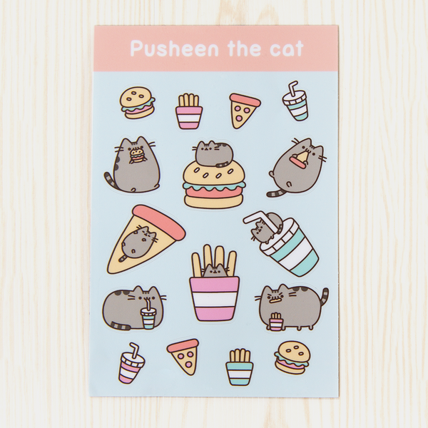 Pusheen Fast Food sticker sheet