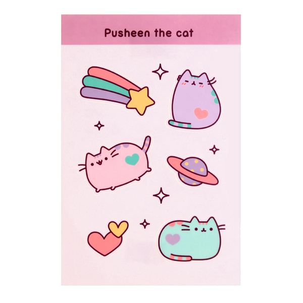 Pastel Pusheen sticker sheet