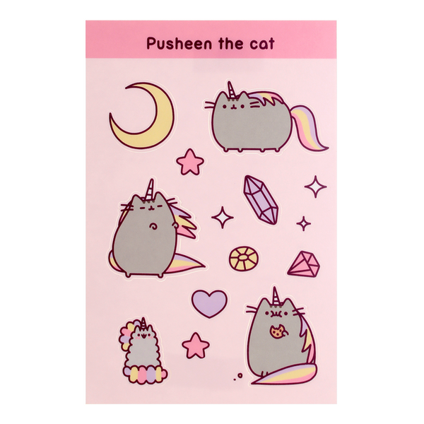 Pusheenicorn sticker sheet