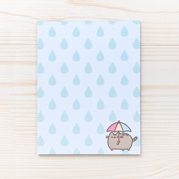 Hey Chickadee - Rainy Day Pusheen notepad  - Yoisho! House - 1