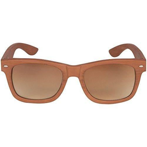 Bamboo wood dark grain sunglasses