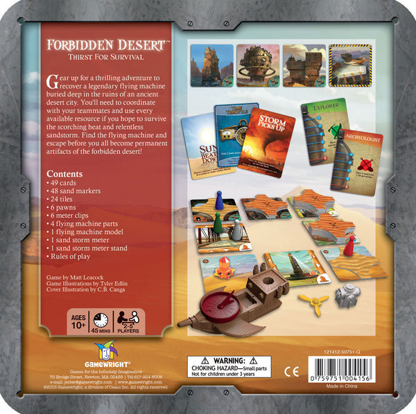 Forbidden Desert - Blue Herring Games - 2