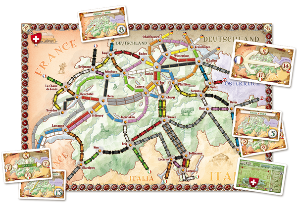 Ticket to Ride Map Collection 2 | India & Switzerland