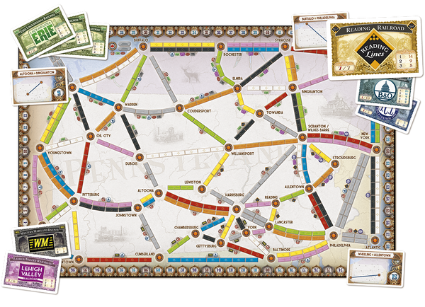 Ticket to Ride Map Collection Volume 5 : United Kingdom - Blue Herring Games - 3