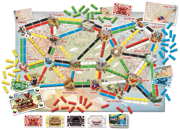 Ticket to Ride First Journey - Blue Herring Games - 2