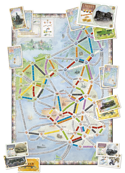 Ticket to Ride Map Collection Volume 5 : United Kingdom - Blue Herring Games - 2