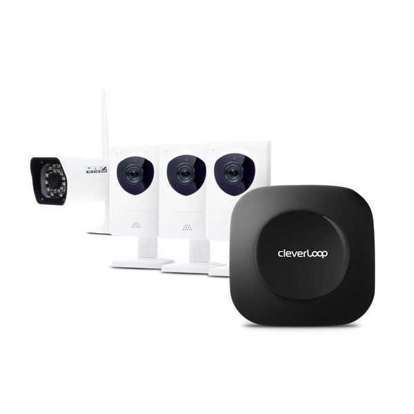 CleverLoop Security System with 4 Cameras