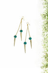 Green & Spike Dangles