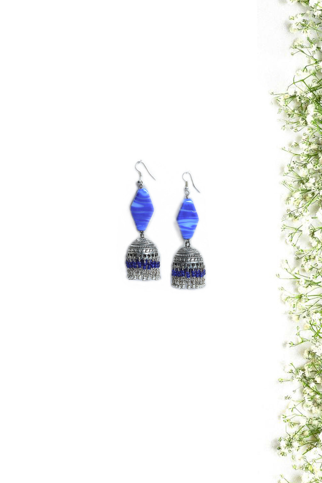 Royal Blue Jhumka