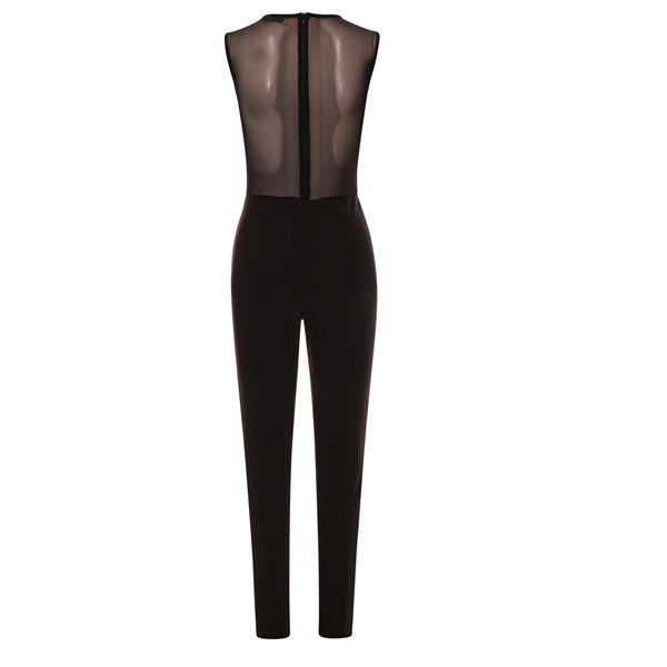 38102966a581 Womens See Through Jumpsuit Formal Party Evening   Casual Latest Trend –  Demon Diva Fashion