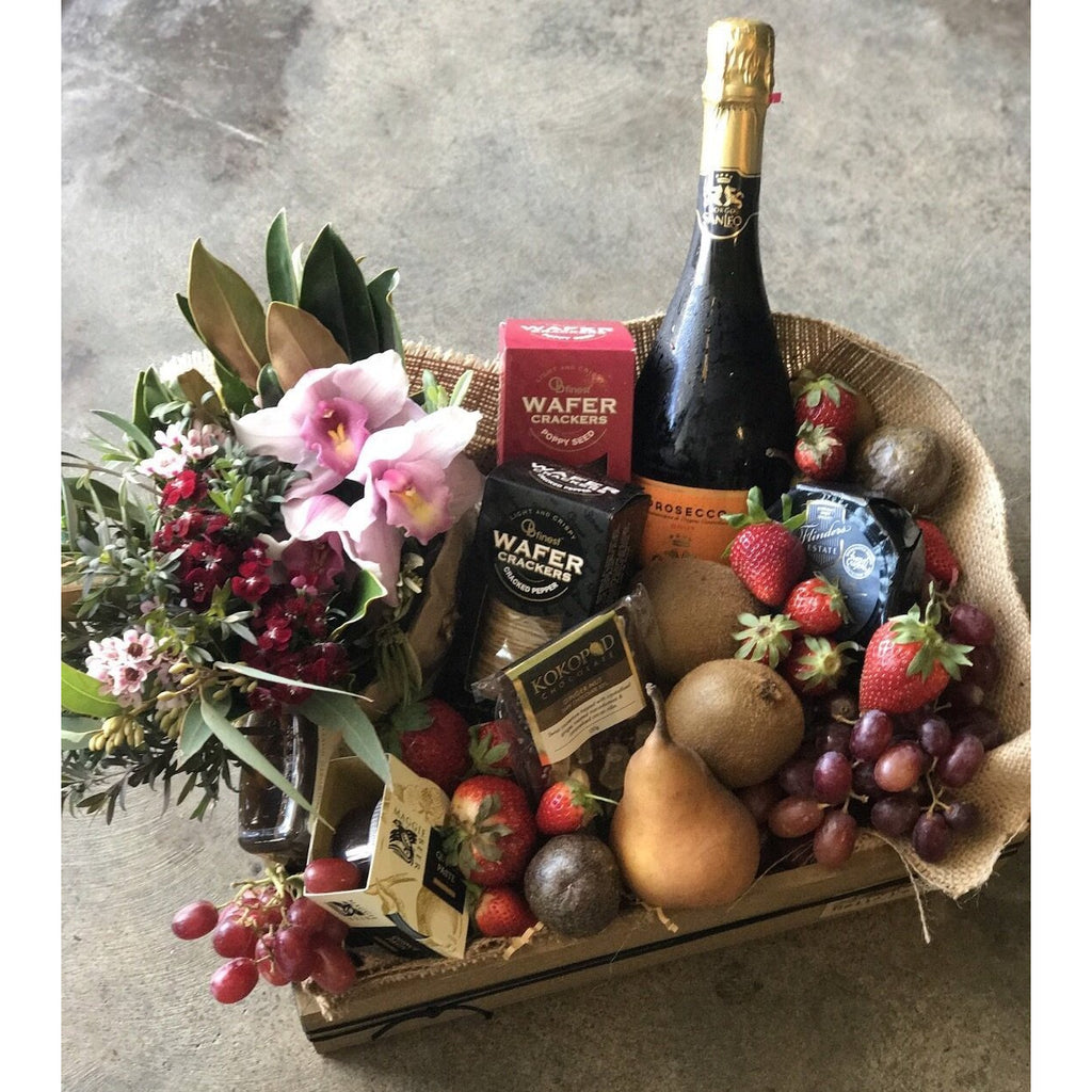 Floral, Sparkling and Treats Hamper