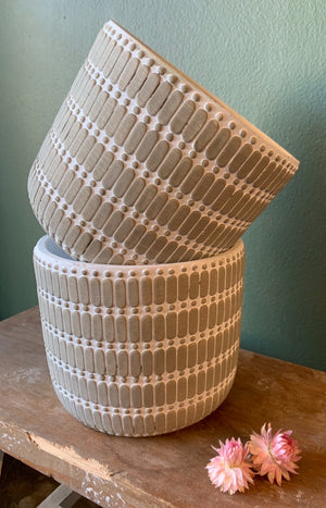Bright Concrete Pot - Large