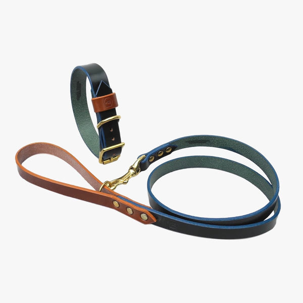 Obojek Monogram Bridle Leather (Forest Green)