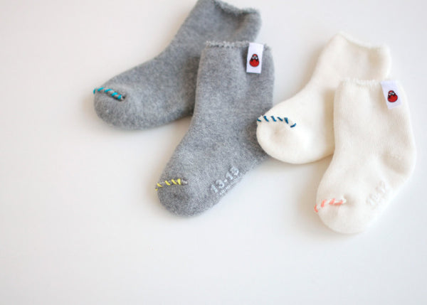 Baby Socks Embroidery Kit