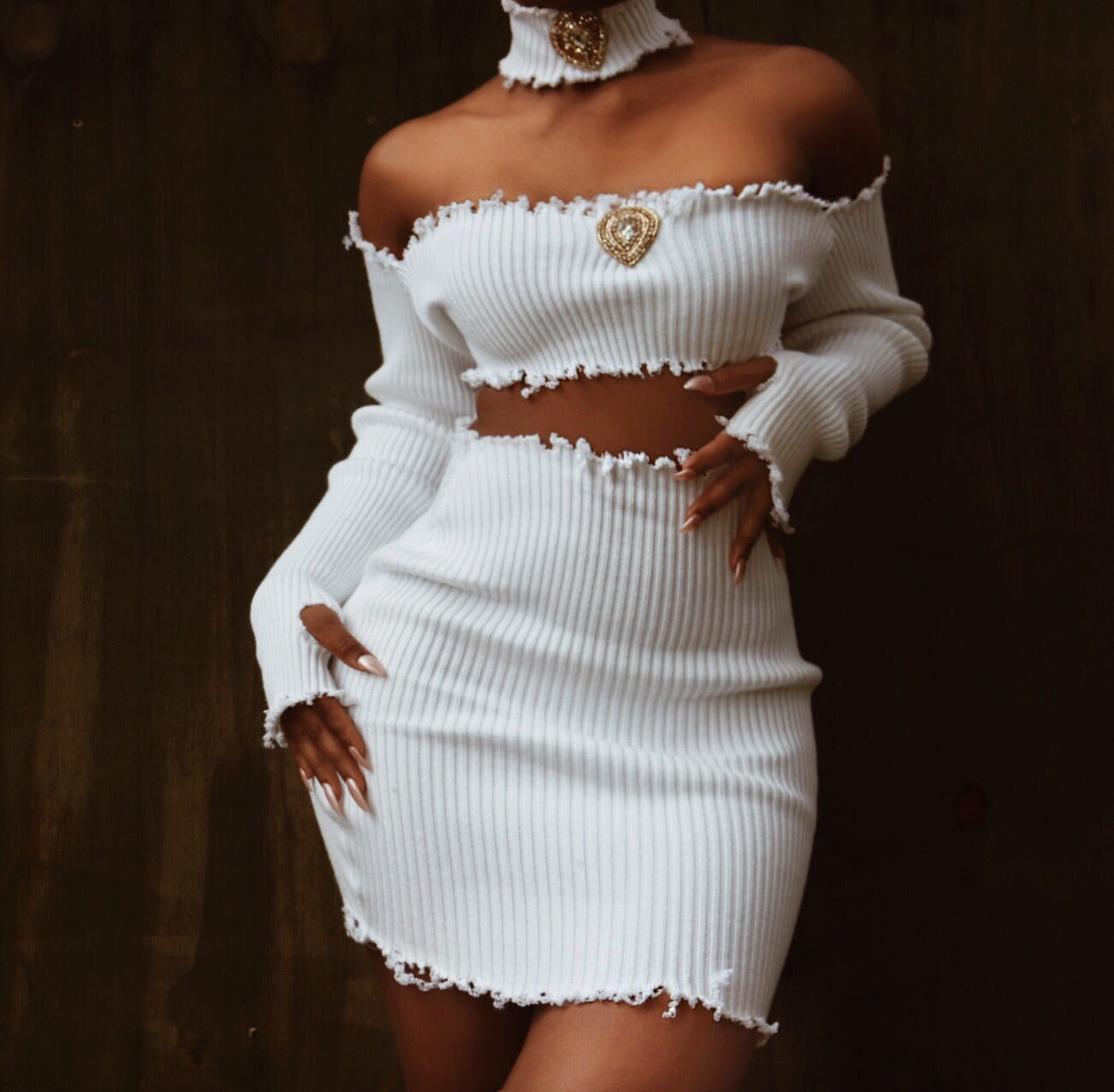 White slayer distress two piece