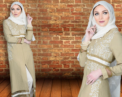 The new wave Of Modest Wear Fashion- Dual Color Abayas!