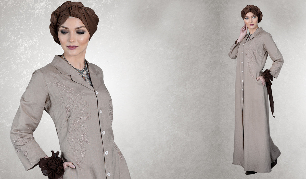 5 Elegant Blush Muted Abayas for Neutral Charm