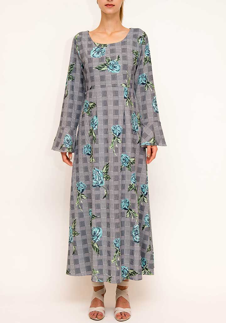 Glen Plaid Abaya dress