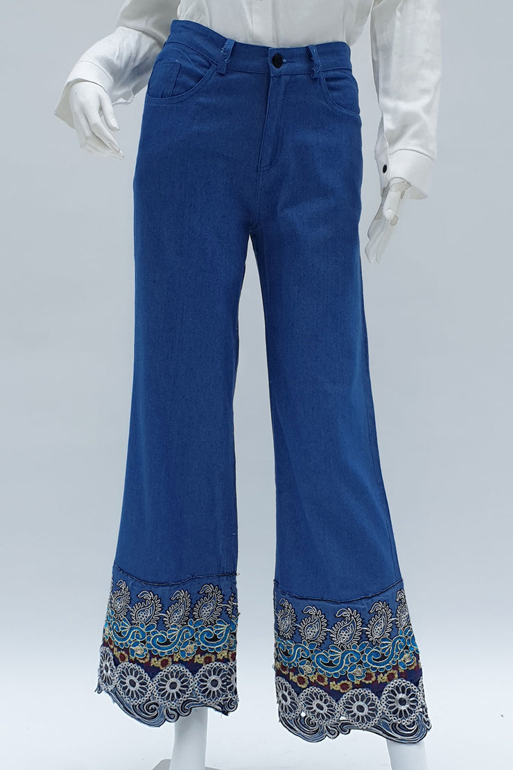 Blue Denim Laced trouser
