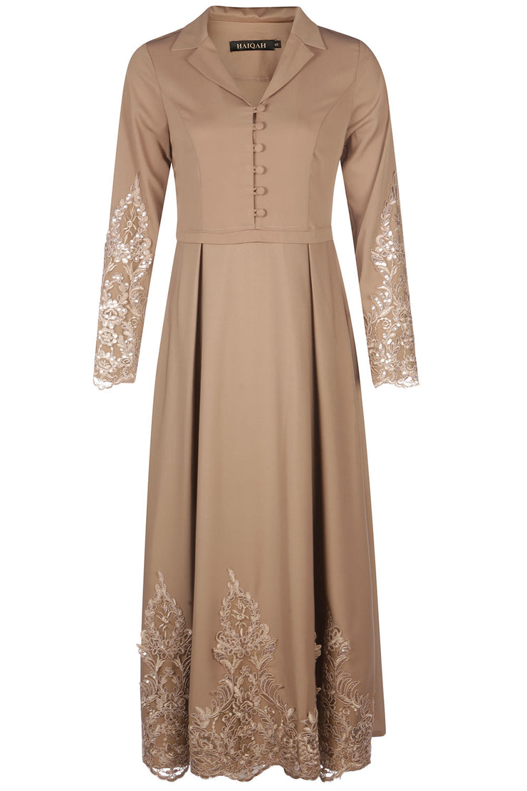 Bronze Dress with Embellished details
