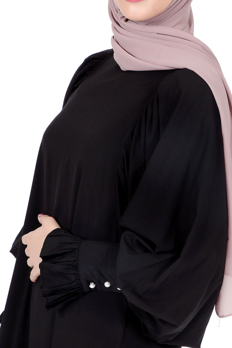 Black Abaya with Butterfly Sleeves