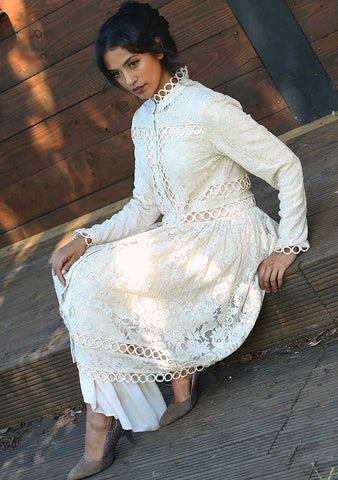 Cream Lace and Trim Tunic