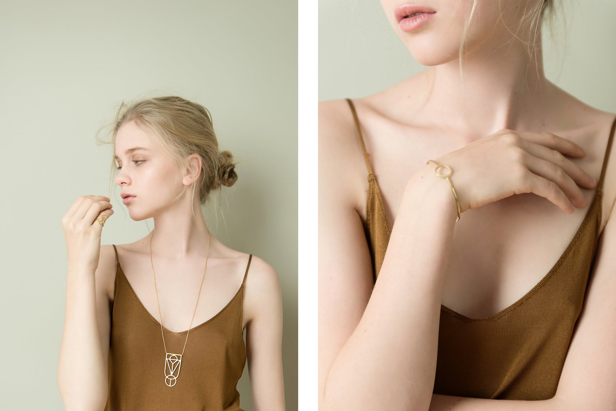 Baiushki Lookbook Jewelry Origin Ring Necklace Circle Earrings