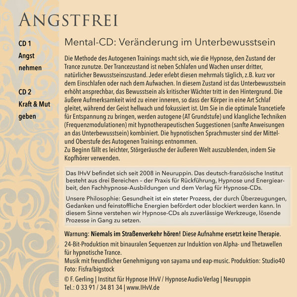 Angstfrei mit autogenem Training - 2-CD-Set - Back