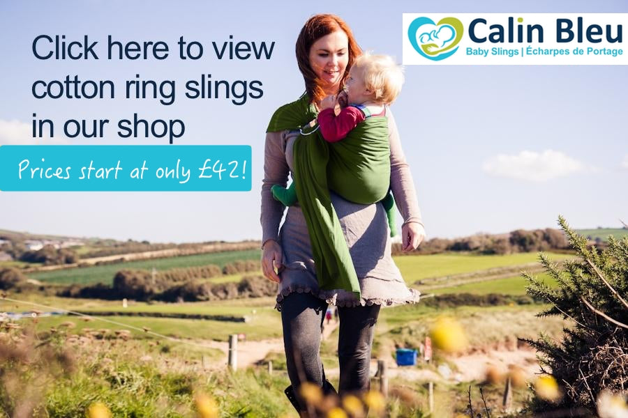 Click here to view cotton ring slings in our shop. Prices start from just £42!