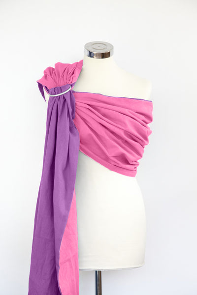 Rose Pink and Amethyst Reversible Ring Sling