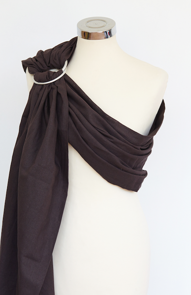 Chocolate Cotton Ring Sling