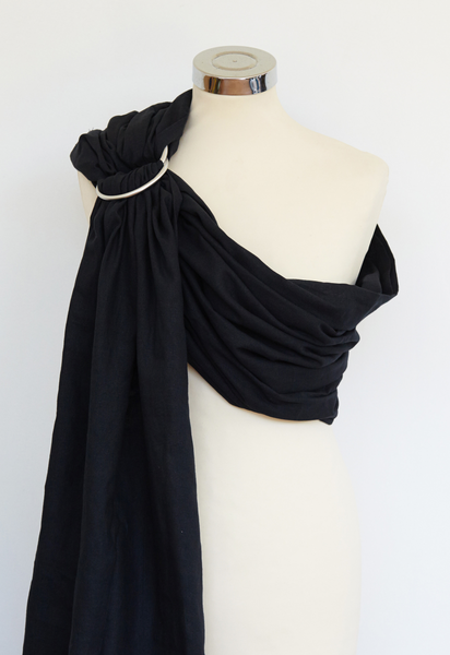 Black Cotton Ring Sling