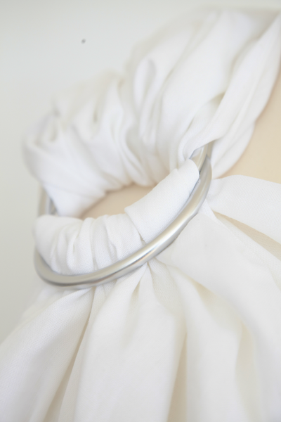 Classic White Cotton Ring Sling